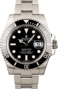 Used Rolex Submariner 116610 Black Luminous Dial