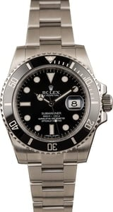 PreOwned Rolex Submariner 116610 Stainless Steel Band Ceramic Bezel