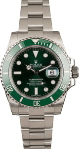 Pre-Owned Rolex Steel Submariner 116610V Green Ceramic 'Hulk'