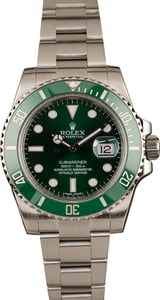 "Pre-Owned 40MM Rolex Submariner 116610V ""Hulk"""