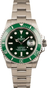 Pre-Owned Rolex Submariner 116610V Green Ceramic Hulk