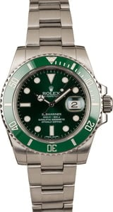 Used Rolex Submariner 116610V Green Ceramic 'Hulk' Bezel