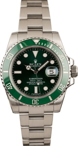 Pre Owned Rolex Submariner 116610V Green 'Hulk' Model