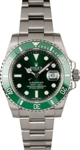 Rolex Submariner 116610V Green Anniversary 100% Authentic