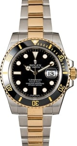 Mens Rolex Ceramic Submariner 116613 Two Tone x