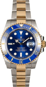 Certified Rolex Submariner 116613 Sunburst Blue