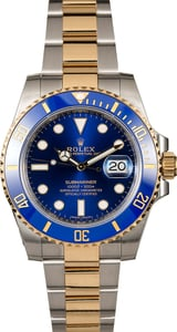 Rolex Submariner 116613 Sunburst Blue Two Tone Oyster