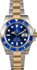 Rolex Submariner 116613 Sunburst Blue Dial with Factory Stickers