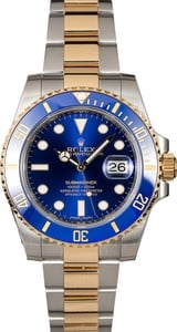 Certified Pre-Owned Rolex Submariner 116613 Sunburst Blue Dial