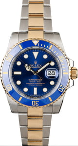 PreOwned Rolex Submariner 116613 Sunburst Blue