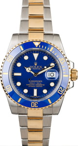 Pre-Owned Rolex Submariner 116613 Blue