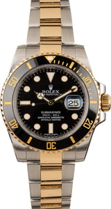 Pre-Owned Rolex Two Tone Submariner 116613 Luminescent Dial