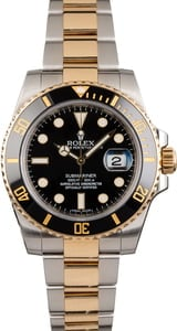 Used Rolex Submariner 116613 Two Tone Black Dial 40MM