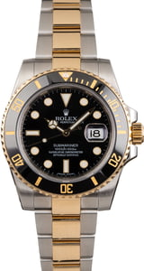 Pre Owned Rolex Submariner 116613 Ceramic Black Bezel
