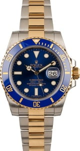 Used Rolex Submariner 116613 Blue Dial Ceramic Bezel