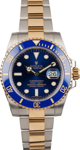 Pre Owned Rolex Submariner Two Tone 116613 Ceramic Bezel