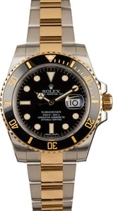 Rolex Two Tone Submariner 116613 Ceramic Bezel