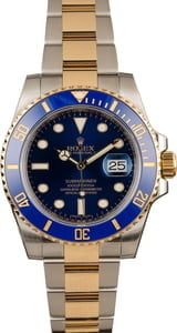 Pre-Owned Rolex Submariner 116613 Sunburst Blue Watch