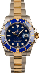 Mens Rolex Ceramic Submariner 116613 Two Tone