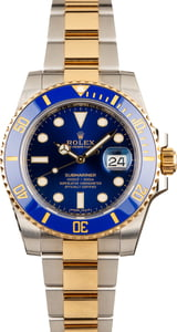 Used Rolex Submariner 116613LB Blue Dial