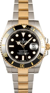 Rolex Submariner 116613 Two Tone Ceramic Bezel