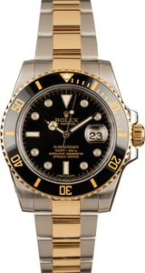 Rolex Diamond Submariner 116613 Two Tone