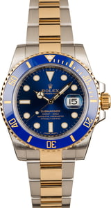 Used Rolex Submariner 116613 Two Tone Sunburst Blue