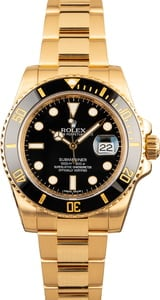 Used Rolex Submariner 18k Gold 116618