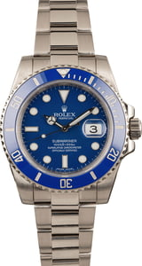 Pre Owned Rolex Submariner 116619 Ceramic Blue Bezel