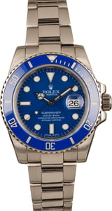 Rolex Submariner Anniversary White Gold 116619