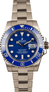 Pre-Owned Rolex Submariner 116619 Blue Bezel