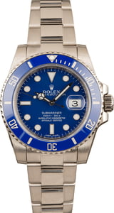 Pre Owned Rolex Submariner 116619 White Gold Ceramic Blue Bezel