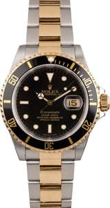 Pre Owned Rolex Submariner 16613 Two-Tone - Black Dial