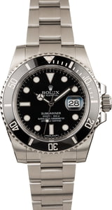 Pre-Owned Rolex Submariner 116610 Black Ceramic Steel