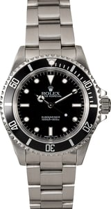Certified Pre-Owned Rolex Submariner 14060 Black Dial