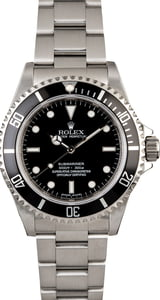 Certified Rolex Submariner 14060 Stainless Steel Oyster