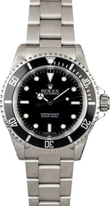 Used Rolex Submariner 14060 No Date Watch