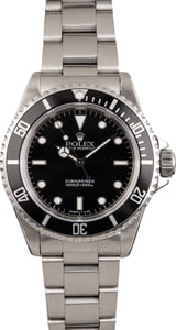 Used Rolex Submariner 14060 Black Dial No Date