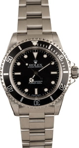 Used Rolex Steel Submariner 14060 Black Luminous Dial
