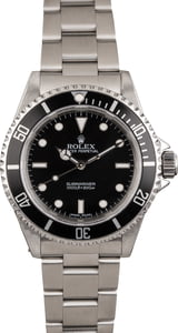 Pre Owned Steel Rolex Submariner 14060 Black Dial