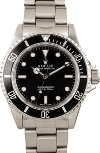 Authentic Rolex Submariner 14060 Black Dial