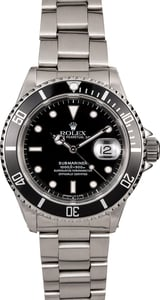 Rolex Submariner 16610 Men's Black Dial