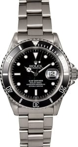 Men's Rolex Submariner 16610 Dive Watch
