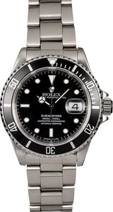 Men's Rolex Submariner 16610 Steel Oyster Band