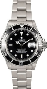 Genuine Rolex Submariner 16610 Black Dial