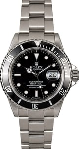 Rolex Submariner 16610 Black Dial Men's Watch