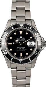 Pre-Owned Rolex Submariner 16610 Steel Oyster Band
