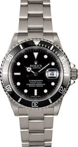 Rolex Submariner 16610 No Holes Steel Case