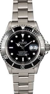Rolex Submariner 16610 Black Diving Bezel