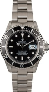 Rolex Submariner 16610 Men's Black Dial Watch